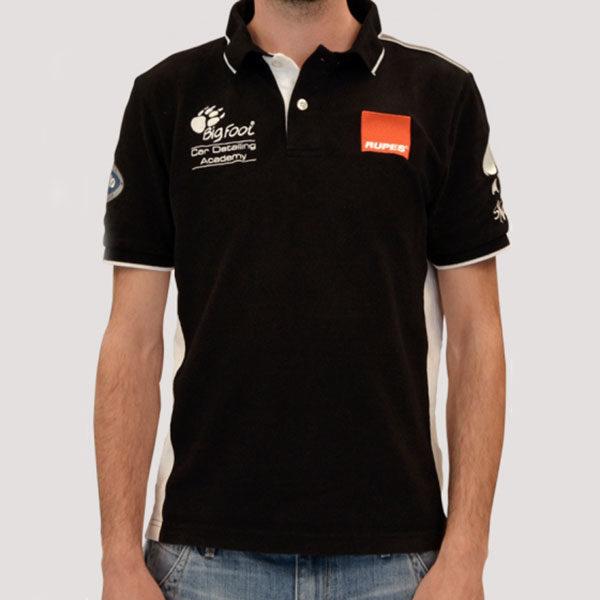 Rupes Bigfoot Academy Polo Shirt Black Line